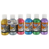 Metallic Washable Paint - 6 Piece Set